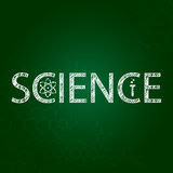 Science text on chalkboard Royalty Free Stock Image