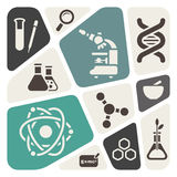 Science theme background Stock Photo