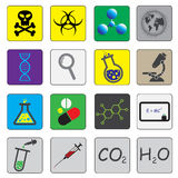 Science theme icons Stock Photo
