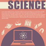 Science theme with text and symbols Royalty Free Stock Image