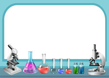 Science tool and frame. Illustration Royalty Free Stock Photography