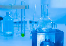 Science tools for test and analysis with laboratory and biology. Royalty Free Stock Image