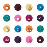 Science trendy icons pack for design. Vector Royalty Free Stock Photos