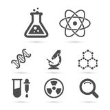Science trendy icons pack. Vector elements Stock Photo