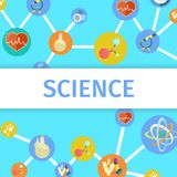 Science Inventions in Chemistry and Physics Poster. Science trendy inventions in Chemistry and Physics colorful vector poster. Useful thing created by Stock Photos