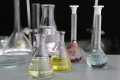Science tubes Stock Image