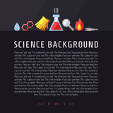 Science vector background. Chemistry, Physics and Biology. Modern flat design. Stock Image