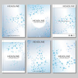 Science vector background. Modern vector templates for brochure, flyer, cover magazine or report in A4 size. Molecule Royalty Free Stock Photography