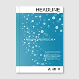 Science vector background. Modern vector templates for brochure, flyer, cover magazine or report in A4 size. Molecule Stock Photography