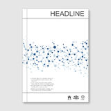 Science vector background. Modern vector templates for brochure, flyer, cover magazine or report in A4 size. Molecule Stock Photo