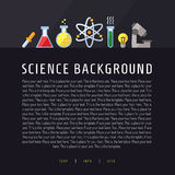 Science vector background with place for your text. Modern flat design. Royalty Free Stock Images