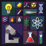 Science vector background with sectors. Modern flat design. Stock Images