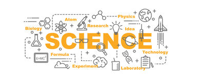 Science vector banner Stock Image
