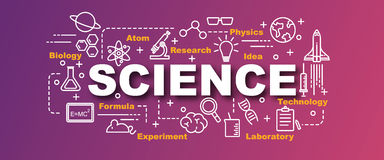 Science vector banner Royalty Free Stock Photography