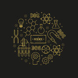 Science Vector Icon Set Royalty Free Stock Image