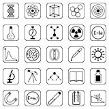 Science vector icons Royalty Free Stock Photo