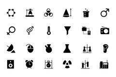 Science Vector Icons 3 Royalty Free Stock Photography