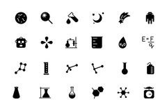 Science Vector Icons 5 Royalty Free Stock Photos