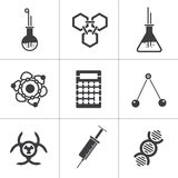 9 science vector icons. Vector illustration  on white Royalty Free Stock Image