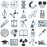 Science vector icons Royalty Free Stock Image