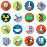 Science vector icons Royalty Free Stock Photography
