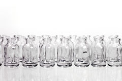 Science Vials in Rows Stock Photos