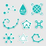 Science Web Icons set Stock Photo
