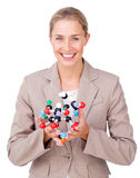 Science woman stock images