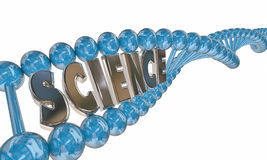 Science Word DNA Strand Medical Research Education Stock Image