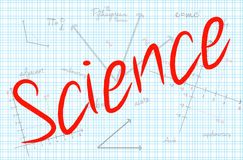 Science Word With Mathematics Background Stock Photos