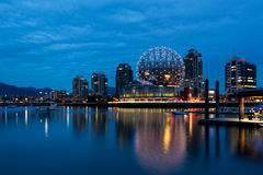 Science World building at blue hour Royalty Free Stock Image