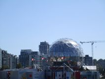 The Science World at downtown Vancouver, British Columbia, Canada. The Science World at downtown Vancouver, British Columbia, Canada, Summer 2018 stock photo