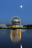 Science world and moonrise Royalty Free Stock Photos
