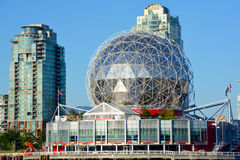 Science World. VANCOUVER BC CANADA JUNE 15 2015: Science World at Telus World of Science. It has many interactive science exhibits and displays, and popular stock image