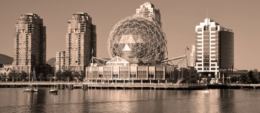 Science World. VANCOUVER BC CANADA JUNE 15 2015: Science World at Telus World of Science. It has many interactive science exhibits and displays, and popular royalty free stock photo