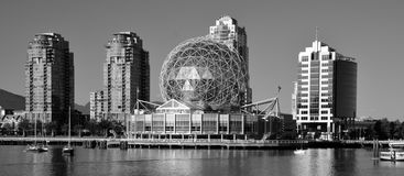 Science World. VANCOUVER BC CANADA JUNE 15 2015: Science World at Telus World of Science. It has many interactive science exhibits and displays, and popular royalty free stock images