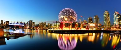 Science World in Vancouver ,canada. The building`s former name Science World in Vancouver is a science centre run by a not-for-profit organization in Vancouver royalty free stock images