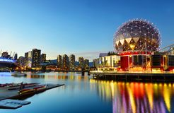 Science world in vancouver ,Canada. VANCOUVER - SEPTEMBER 25,2017 :The building`s former name Science World in Vancouver is a science centre run by a not-for stock photo