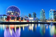 Science world in vancouver ,Canada. VANCOUVER - SEPTEMBER 25,2017 :The building`s former name Science World in Vancouver is a science centre run by a not-for royalty free stock image