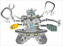 ScienceCyborgrobot stock illustrationer
