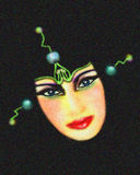 Sciencefiction-Cyberspace-Mädchen Lizenzfreies Stockbild