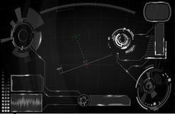 Sciencefiction futuristischer glühender HUD Display Vitrual-Wirklichkeits-Technologie-Schirm vektor abbildung