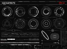 Sciencefiction futuristischer glühender HUD Display Vitrual-Wirklichkeits-Technologie-Schirm stock abbildung