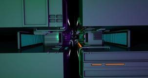 Sciencefiction/futuristischer Korridor stock footage