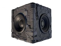 Sciencefiction, High-Tech, Kasten des Sprechers 3D vektor abbildung