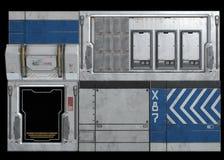 Sciencefictionsraumschiffs-Rumpfplatten Stockfotografie