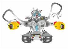 Sciencerobotbehållare royaltyfri illustrationer
