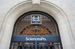Sciences Po Paryż Fotografia Royalty Free