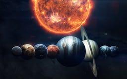 Scienceutrymmetapet, incredibly härliga planeter, galaxer Beståndsdelar av denna avbildar möblerat av NASA royaltyfria bilder