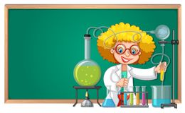 A scienctist experiment at the laboratory. Illustration vector illustration